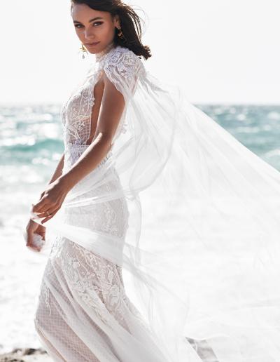 Bridal Zavana lace cape