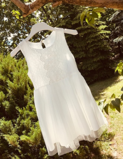 Bruidsmeisjes jurk vintage boho ivoor tulle