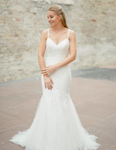 White One Obelia trouwjurk