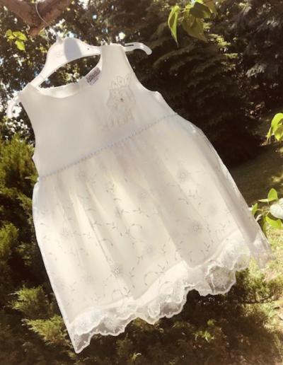 Bruidsmeisjes jurk ivoor tulle